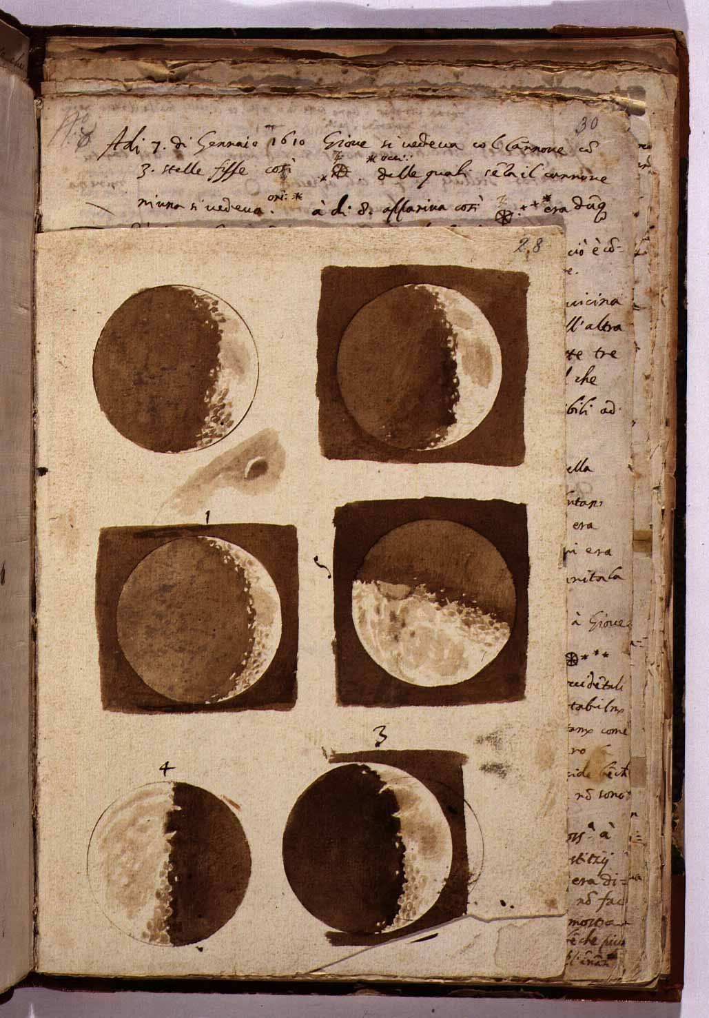 Galileo's Moon Drawings