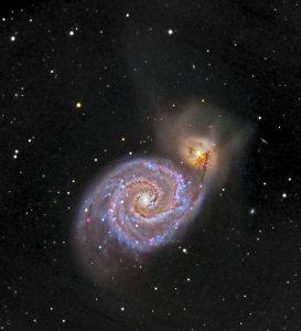 Whirlpool Galaxy, imaged at SFU's Trottier Observatory on April 20
