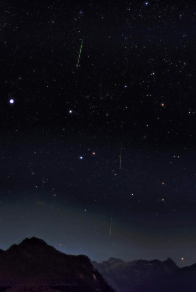 Image of 3 Perseid Meteors from 2016