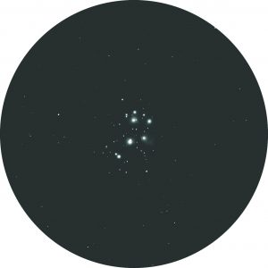 The view of Pleiades through binoculars