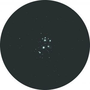 The view of Pleiades through binoculars