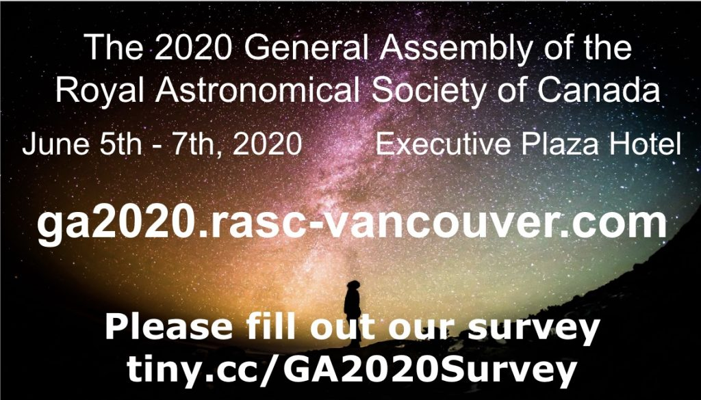 GA 2020 Announcement and Survey