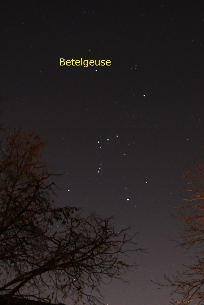 Betelgeuse in Orion