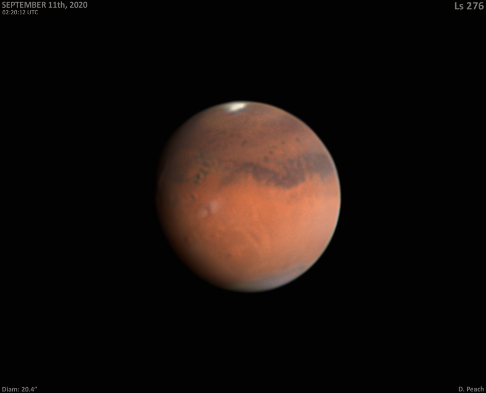 Mars Image from Damian Peach 2020-09-11